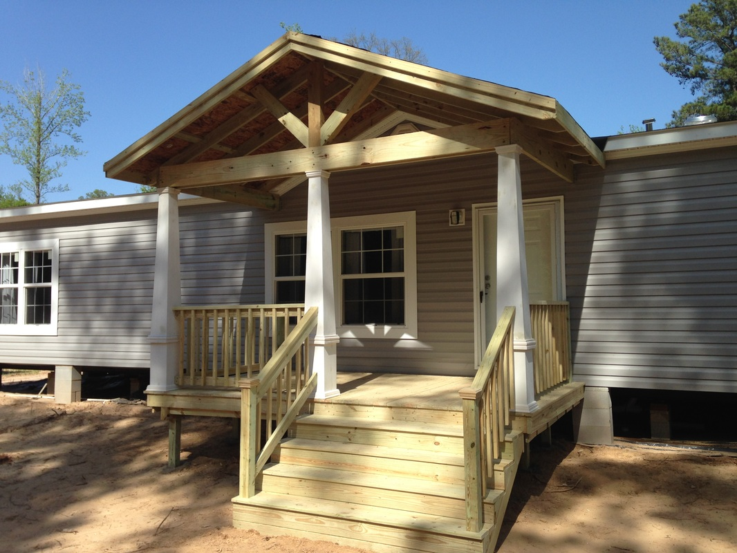 Mobile homes decks decks and porches Decks and porches for mobile homes