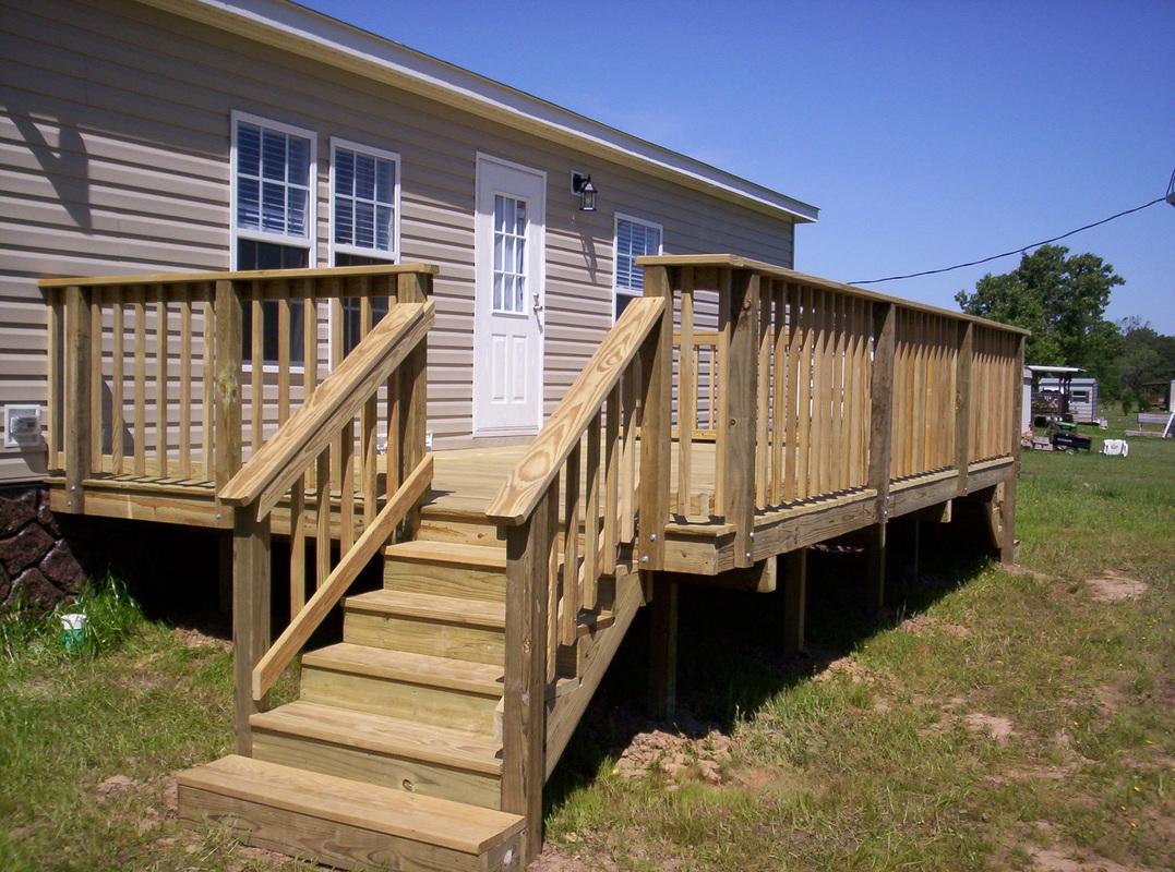 Diy mobile home porch diy do it your self for Diy decks for mobile homes