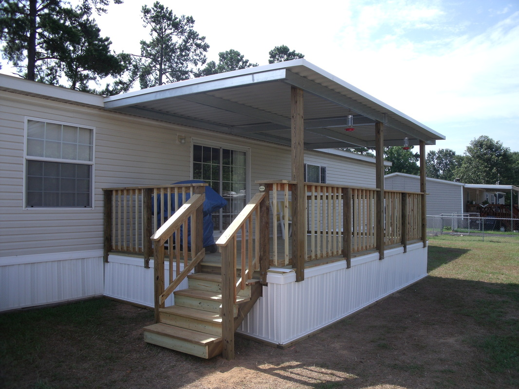 Mobile home covered decks joy studio design gallery for Deck plans for mobile homes